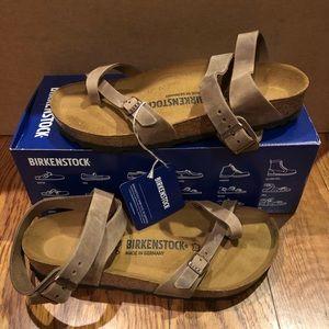 Birkenstock Yara Brown leather new